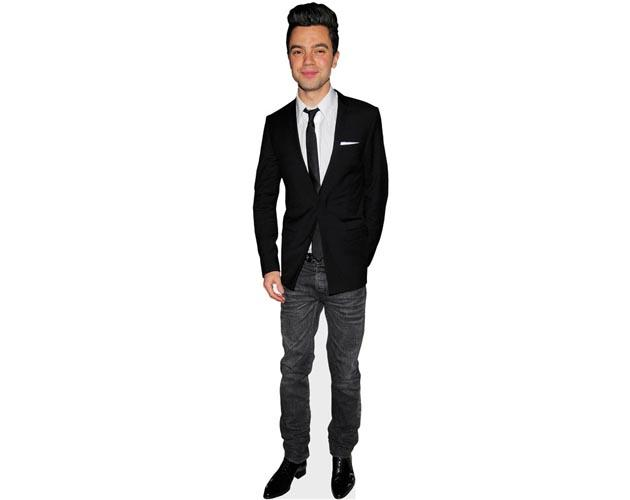 A Lifesize Cardboard Cutout of Dominic Cooper wearing a suit