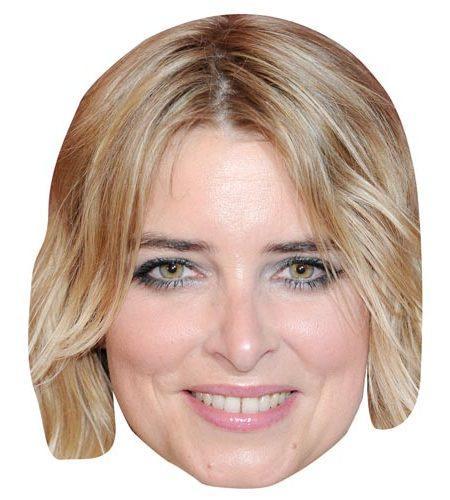 A Cardboard Celebrity Mask of Emma Atkins