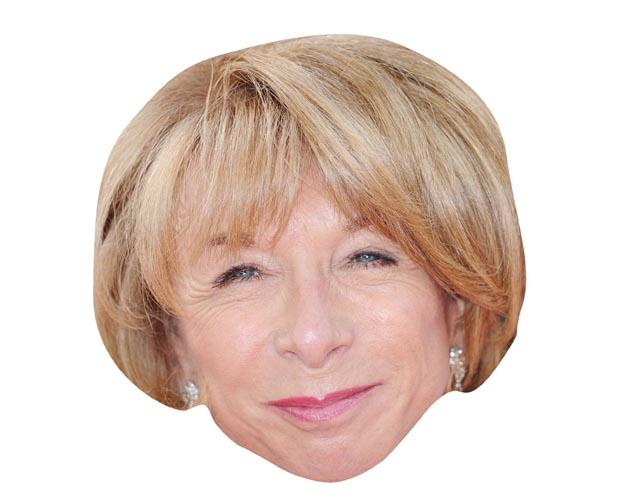 A Cardboard Celebrity Mask of Helen Worth