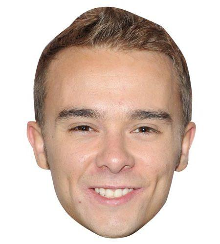 A Cardboard Celebrity Mask of Jack P Shepherd