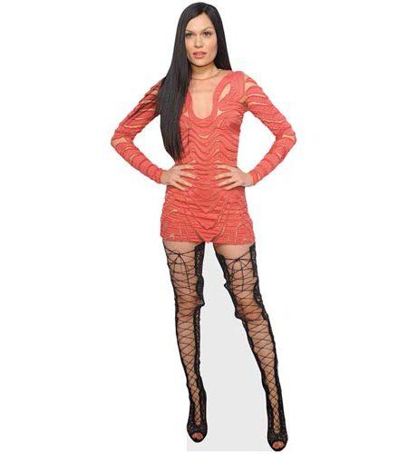 Jessie J (Coral Dress) Cardboad Cutout