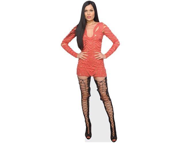 Jessie J (Coral Dress) Cardboad Cutout