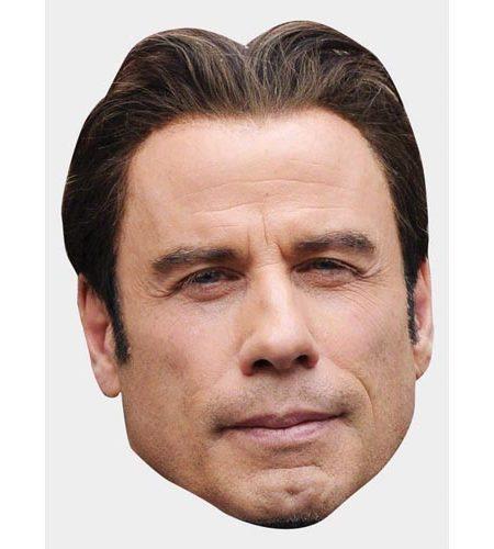 A Cardboard Celebrity Mask of John Travolta