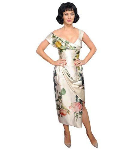 Katy Perry Flowery Dress Cardboard Cutout