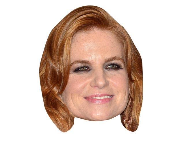 A Cardboard Celebrity Mask of Patsy Palmer