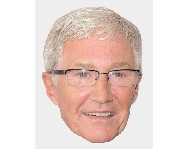 A Cardboard Celebrity Mask of Paul O'Grady