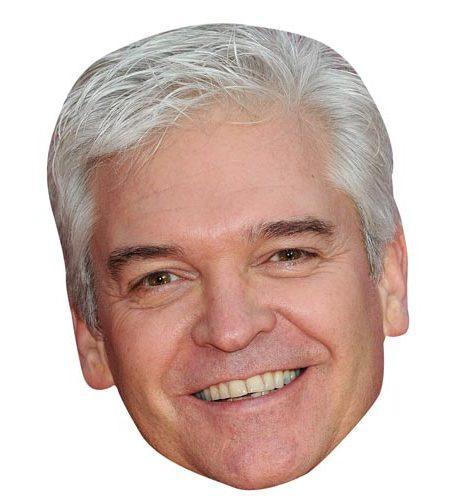 A Cardboard Celebrity Masks of Phillip Schofield