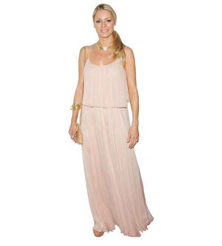 A Lifesize Cardboard Cutout of Tess Daly wearing a full length gown