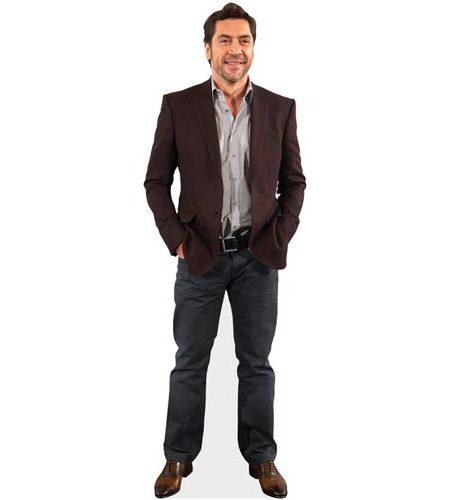 A Lifesize Cardboard Cutout of Javier Bardem wearing a suit