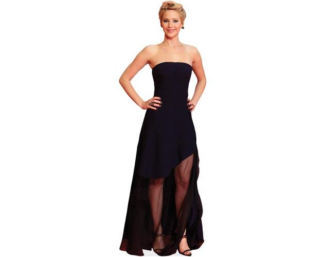 A Lifesize Cardboard Cutout of Jennifer Lawrence wearing black