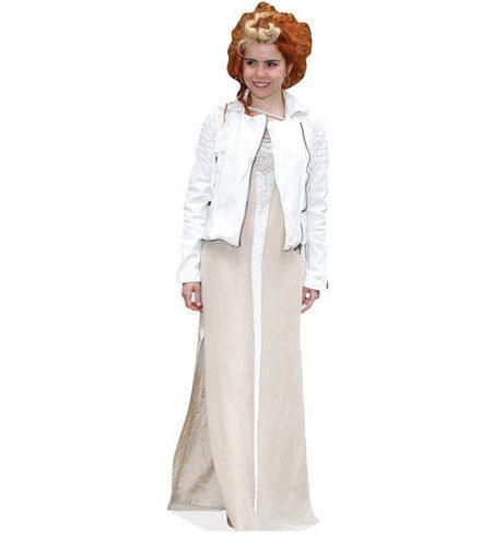 A Lifesize Cardboard Cutout of Paloma Faith wearing white