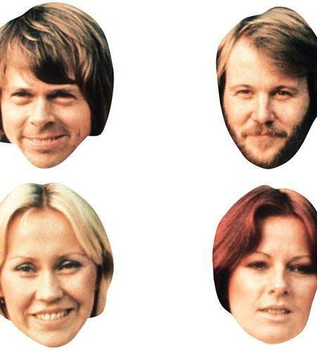 A Cardboard Celebrity Masks of Abba