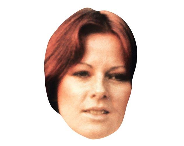 A Cardboard Celebrity Masks of Anni-Frid Lyngstad