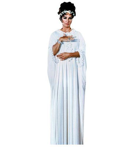 A Lifesize Cardboard Cutout of Elizabeth Taylor wearing white