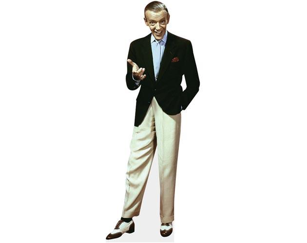 A Lifesize Cardboard Cutout of Fred Astaire wearing a blazer
