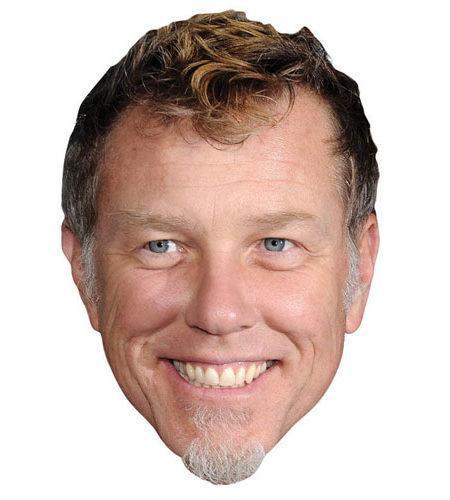 A Cardboard Celebrity Big Head of James Hetfield