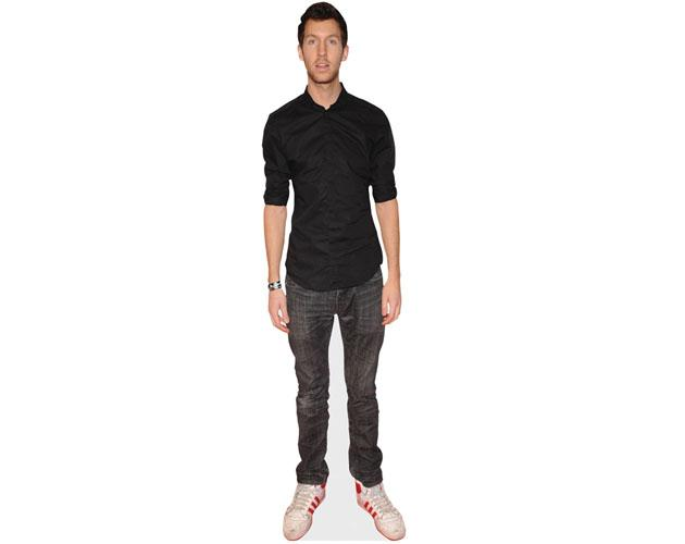 A Lifesize Cardboard Cutout of Calvin Harris wearing jeans
