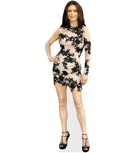 A Lifesize Cardboard Cutout of Catherine Zeta-Jones wearing a short dress