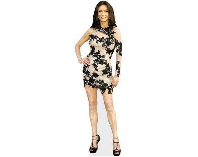 A Lifesize Cardboard Cutout of Catherine Zeta-Jones wearing a short dress