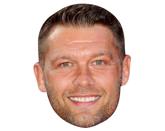 A Cardboard Celebrity Mask of John Partridge