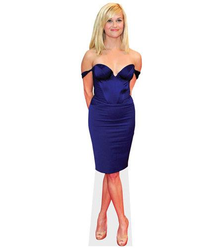 A Lifesize Cardboard Cutout of Reese Witherspoon wearing a gown