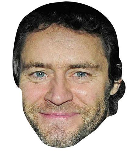 A Cardboard Celebrity Mask of Howard Donald