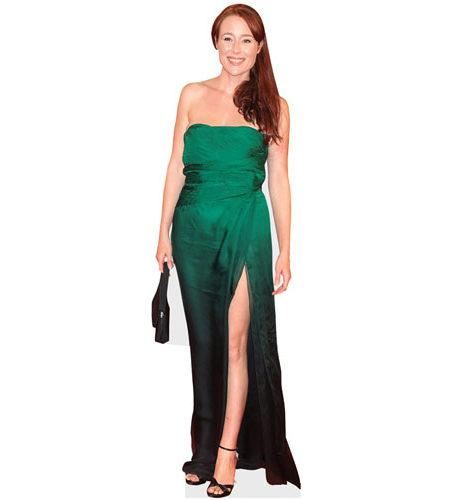 A Lifesize Cardboard Cutout of Jennifer Ehle wearing a green dress