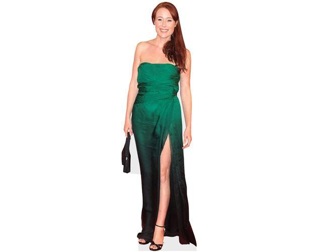 A Lifesize Cardboard Cutout of Jennifer Ehle wearing a green dress