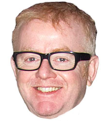 A Cardboard Celebrity Mask of Chris Evans