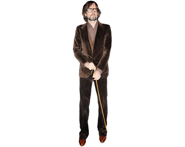 A Lifesize Cardboard Cutout of Jarvis Cocker wearing brown