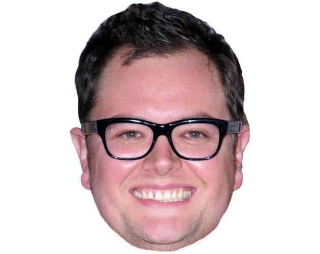 A Cardboard Celebrity Mask of Alan Carr