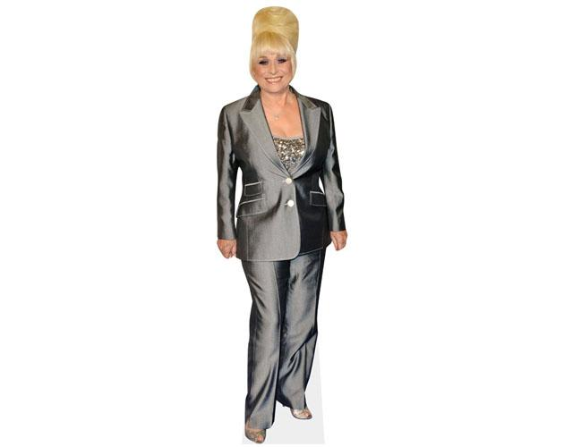 A Lifesize Cardboard Cutout of Barbara Windsor wearing a trouser suit