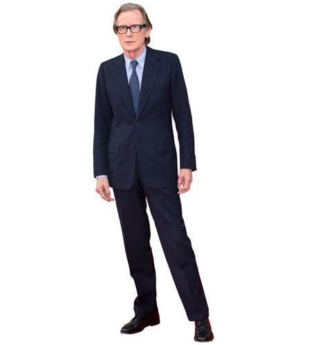 A Lifesize Cardboard Cutout of Bill Nighy wearing a suit