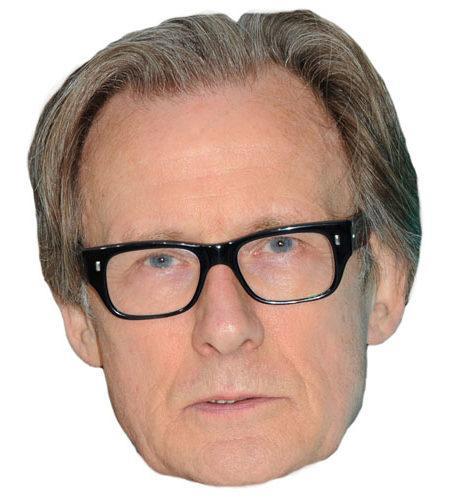 A Cardboard Celebrity Mask of Bill Nighy
