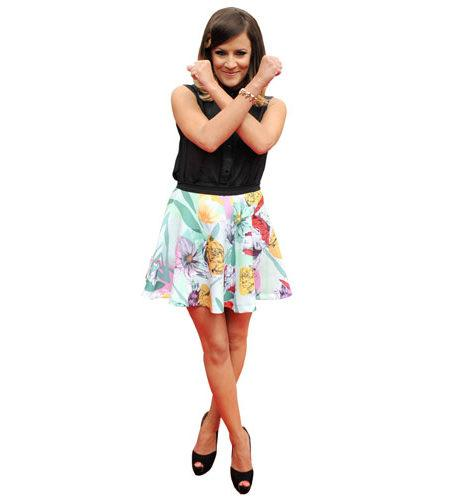 A Lifesize Cardboard Cutout of Caroline Flack striking a pose