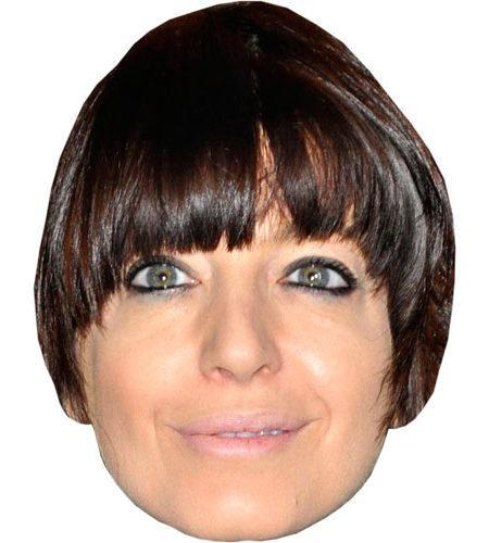 A Cardboard Celebrity Claudia Winkleman Mask