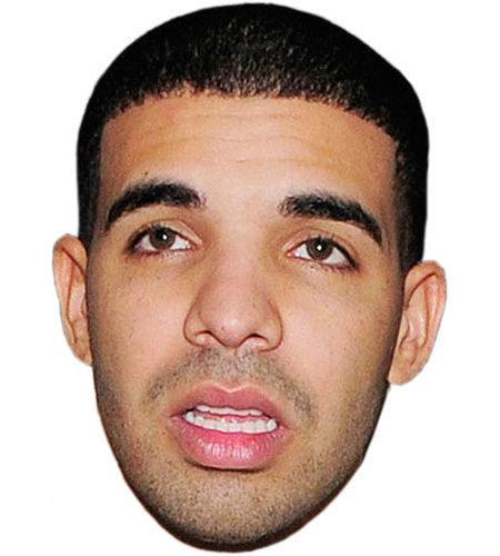 A Cardboard Celebrity Mask of Drake