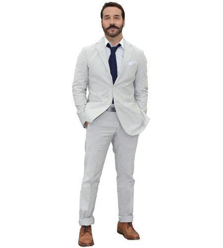A Lifesize Cardboard Cutout of Jeremy Piven wearing a suit
