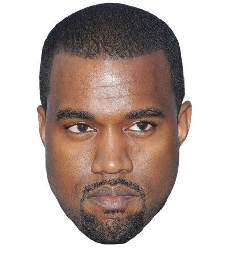 A Cardboard Celebrity Kanye West Mask