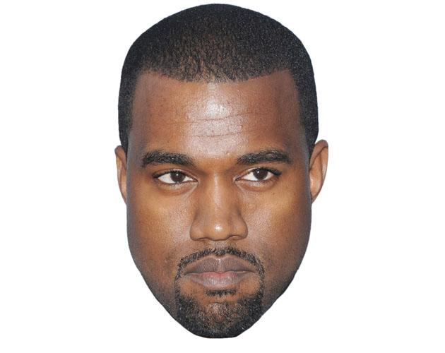 A Cardboard Celebrity Kanye West Mask
