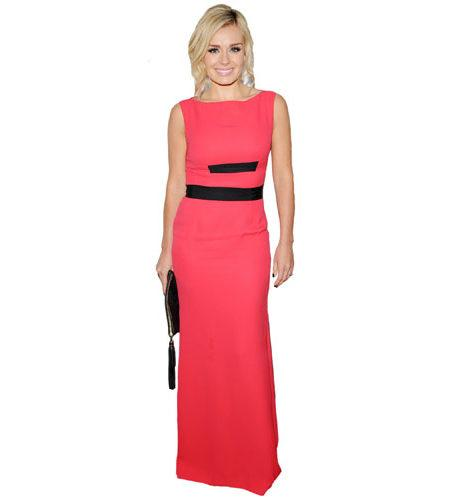 A Lifesize Cardboard Cutout of Katherine Jenkins wearing a red dress