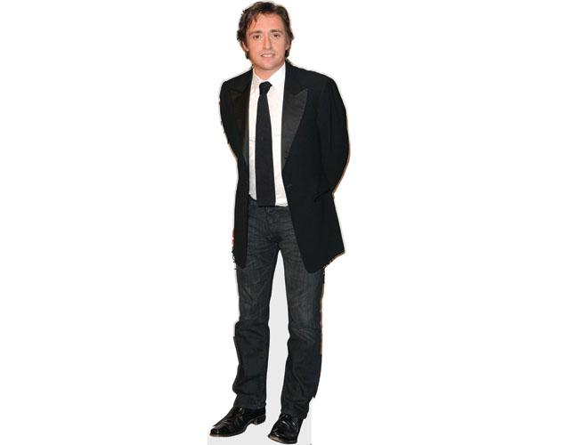 A Lifesize Cardboard Cutout of Richard Hammond wearing a suit