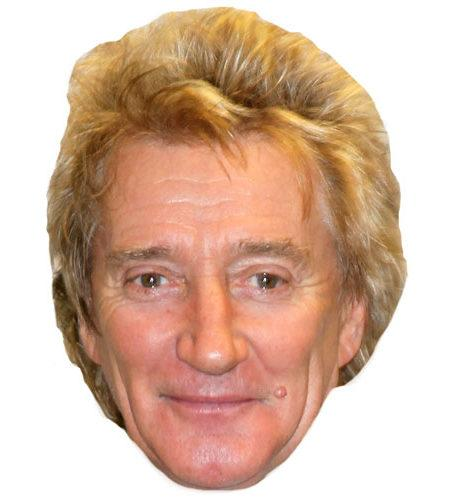 A Cardboard Celebrity Mask of Rod Stewart