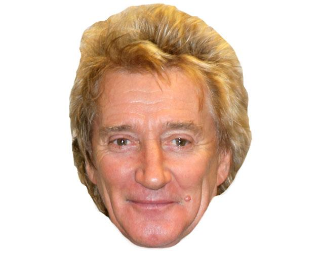 A Cardboard Celebrity Mask of Rod Stewart