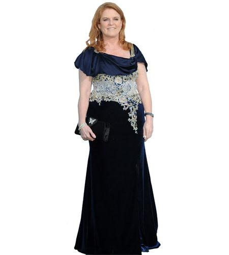 A Lifesize Cardboard Cutout of Sarah Ferguson wearing a gown