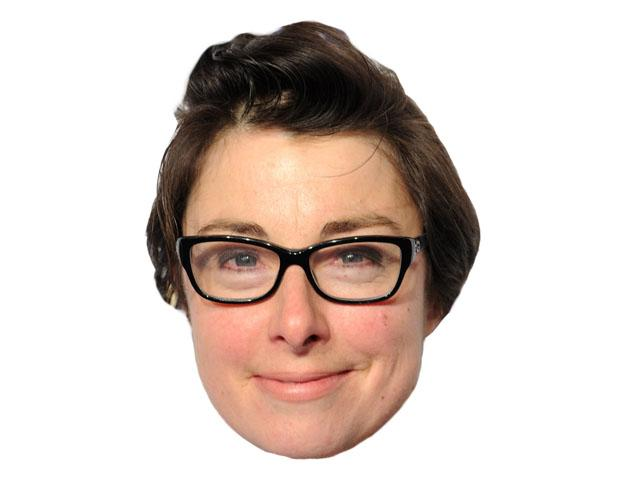 A Cardboard Celebrity sue perkins mask