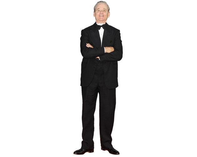 A Lifesize Cardboard Cutout of Bill Murray wearing a suit
