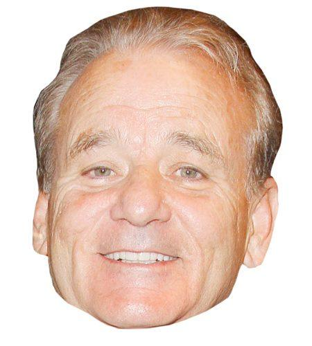 A Cardboard Celebrity Bill Murray Mask