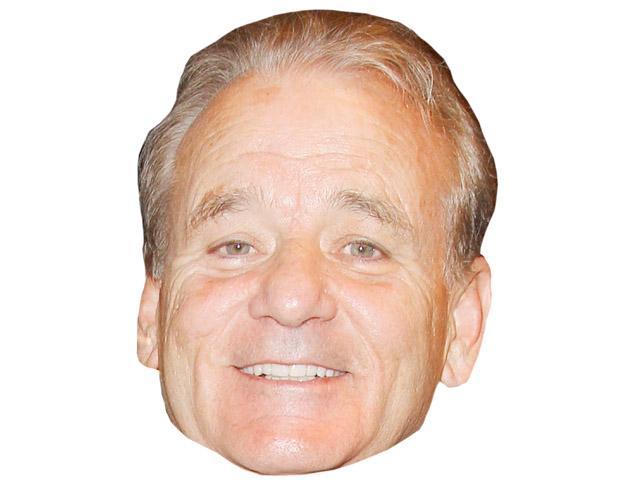 A Cardboard Celebrity Bill Murray Mask