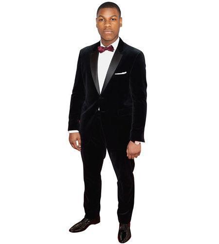 A Lifesize Cardboard Cutout of John Boyega wearing a bow tie